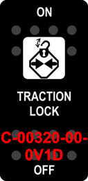"""""""TRACTION LOCK""""  Black Switch Cap single White Lens  ON-OFF"""