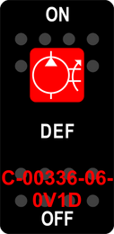"""DEF""  Black Switch Cap single Red Lens ON-OFF"