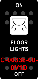 """""""FLOOR LIGHTS""""  Black Switch Cap single White Lens  ON-OFF"""