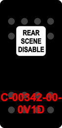"""REAR SCENE DISABLE""  Black Switch Cap single White Lens  ON-OFF"