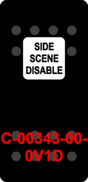 """SIDE SCENE DISABLE""  Black Switch Cap single White Lens  ON-OFF"