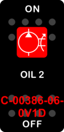 """OIL 2""  Black Switch Cap single Red Lens  ON-OFF"