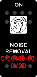 """NOISE REMOVAL""  Black Switch Cap single White Lens  (ON)-OFF"