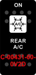 """REAR AC""  Black Switch Cap single White Lens  (ON)-OFF"