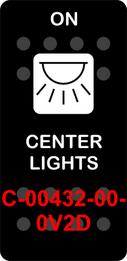 """""""CENTER LIGHTS""""  Black Switch Cap single White Lens  (ON)-OFF"""