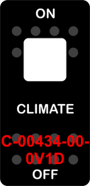 """""""CLIMATE""""  Black Switch Cap single White Lens  ON-OFF"""