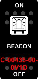 """BEACON""  Black Switch Cap single White Lens  ON-OFF"