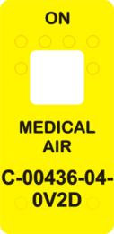 """""""MEDICAL AIR""""  Yellow Switch Cap single White Lens  (ON)-OFF"""