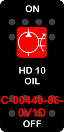 """""""HD 10 OIL""""  Black Switch Cap single Red Lens  ON-OFF"""