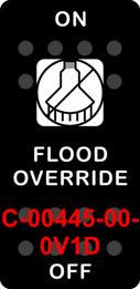 """FLOOD OVERRIDE""  Black Switch Cap single White Lens ON-OFF"