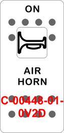 """AIR HORN""  White Switch Cap single White Lens (ON) OFF"