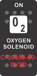 """OXYGEN SOLENOID""  Black Switch Cap single White Lens (ON) OFF"