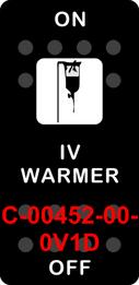"""IV WARMER""  Black Switch Cap single White Lens ON-OFF"