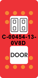 """""""DOOR SYMBOL""""  Red Paddle Cap (ON)OFF(ON)"""