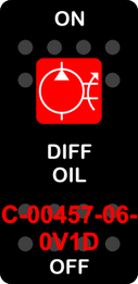 """""""DIFF OIL""""  Black Switch Cap single Red Lens  ON-OFF"""