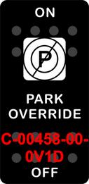 """PARK OVERRIDE""  Black Switch Cap single White Lens  ON-OFF"