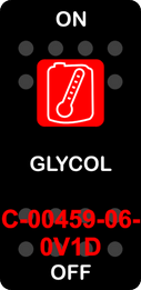 """""""GLYCOL""""  Black Switch Cap single Red Lens  ON-OFF"""