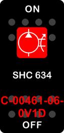 """SHC 634""  Black Switch Cap single Red Lens  ON-OFF"