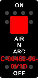"""""""AIR N ARC""""  Black Switch Cap single Red Lens  ON-OFF"""