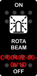 """ROTA BEAM""  Black Switch Cap single White Lens  ON-OFF"