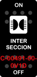"""""""INTERSECCION""""  Black Switch Cap single White Lens ON OFF"""