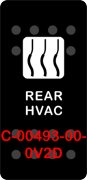 """REAR HVAC""  Black Switch Cap single White Lens (ON) OFF"