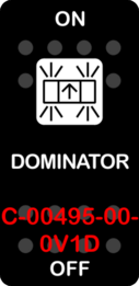 """DOMINATOR""  Black Switch Cap single White Lens ON OFF"