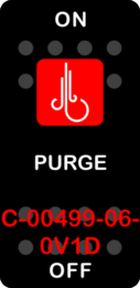 """PURGE""  Black Switch Cap single Red Lens ON OFF"