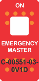 """EMERGENCY MASTER""  RedSwitch Cap single White Lens ON-OFF"