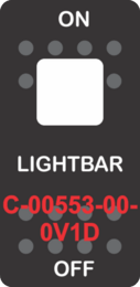 """LIGHTBAR""  Black Switch Cap single White Lens ON-OFF"