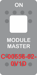 """MODULE MASTER"" Grey Switch Cap single White Lens ON-OFF"