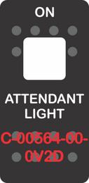 """""""ATTENDANT LIGHT"""" Black Switch Cap single White Lens (ON) OFF"""