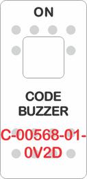"""CODE BUZZER"" White Switch Cap single White Lens (ON) OFF"