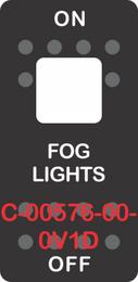 """""""FOG LIGHTS"""" Black Switch Cap Single White Lens ON-OFF"""