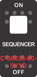 """""""SEQUENCER""""Black Switch Cap single Red Len's, ON-OFF"""