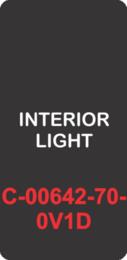 """INTERIOR LIGHT"" Black Contura Cap, No Lens, Laser Etched, ON-OFF"