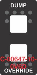 """DUMP OVERRIDE""  Black Switch Cap dual White Lens  (ON)-OFF-(ON)"