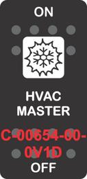 """HVAC MASTER"" Black Switch Cap SIngle White Lens ON-OFF"