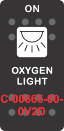"""OXYGEN LIGHT""  Black Switch Cap single White Lens (ON) OFF"