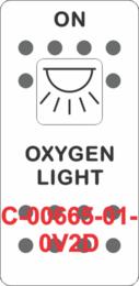 """OXYGEN LIGHT""  White Switch Cap single White Lens (ON) OFF"