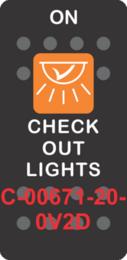 """CHECKOUT LIGHTS""  Black Switch Cap single Orange Lens (ON) OFF"