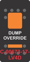 """""""DUMP OVERRIDE""""  Black Switch Locking Cap dual Orange Lens ON-OFF"""