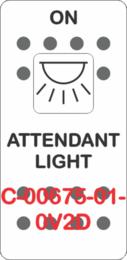 """""""ATTENDANT LIGHT"""" White Switch Cap SIngle White Lens (ON)OFF"""