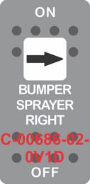 """BUMPER SPRAYER RIGHT"" Grey Switch Cap single White Len's, ON-OFF"