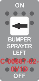 """BUMPER SPRAYER LEFT"" Grey Switch Cap single White Len's, ON-OFF"