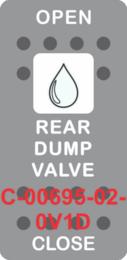 """REAR DUMP VALVE"" Grey Switch Cap SIngle White Lens ON-OFF"