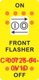 """FRONT FLASHER"" Yellow Switch Cap Single White Lens ON-OFF"