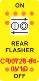 """REAR FLASHER"" Yellow Switch Cap Single White Lens ON-OFF"