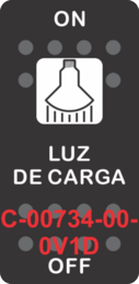 """LUZ DE CARGA"" Black Switch Cap Single White Lens ON-OFF"