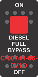 """DIESEL FULL BYPASS"" Black Switch Cap SIngle Red Lens ON-OFF"